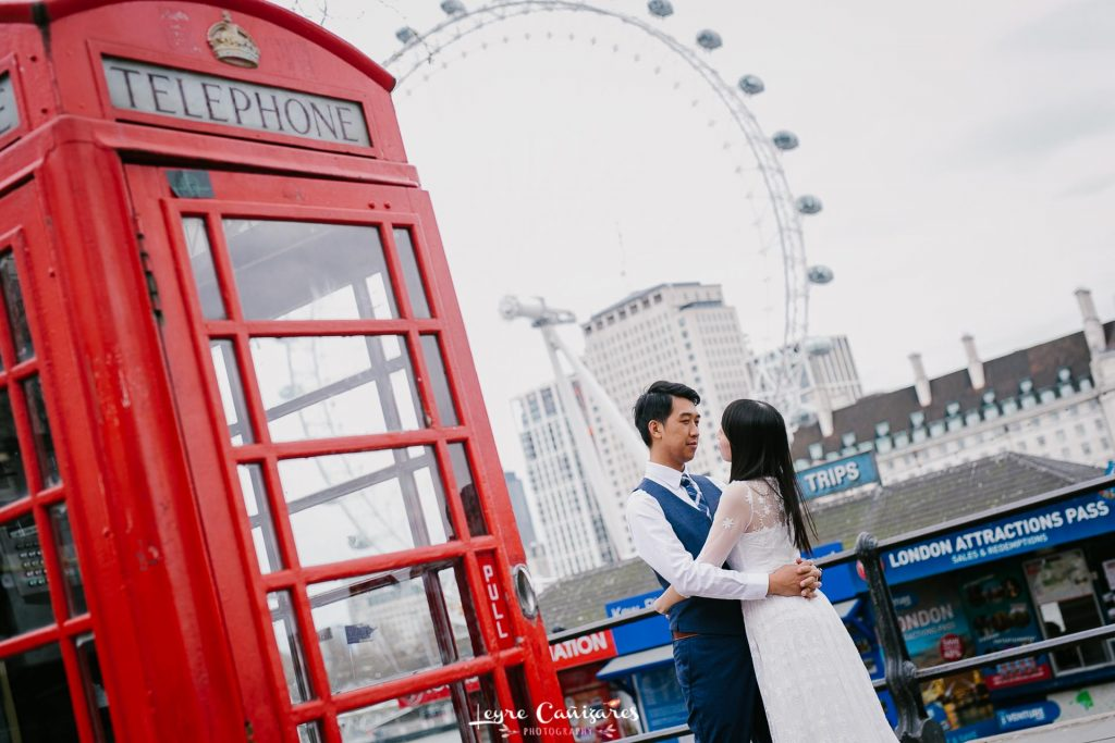 engagement photoshoot in london eye in London