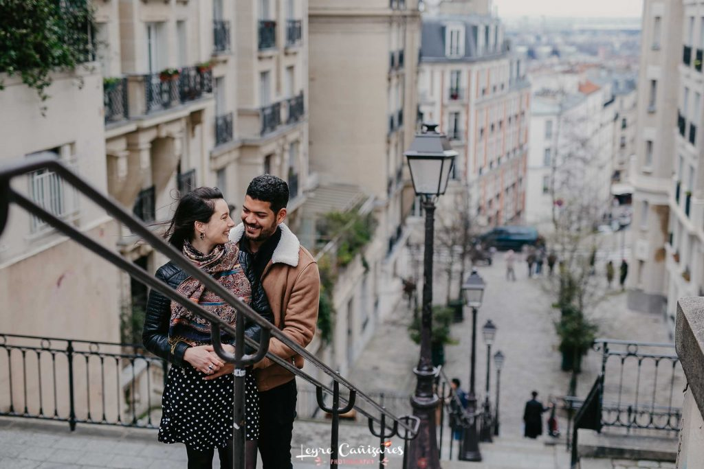 couple shoot in montmartre, paris