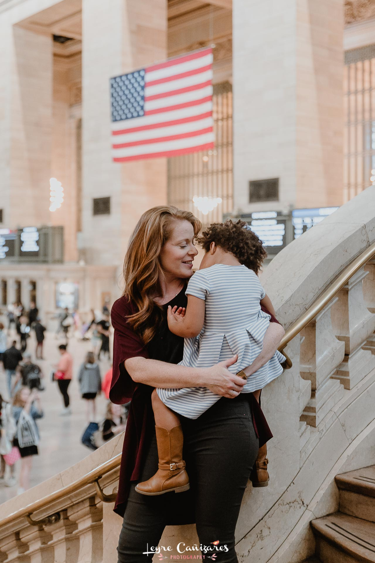 family photography at grand central terminal