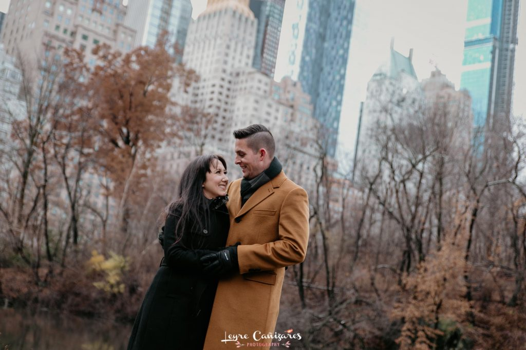 sesion de fotos de pareja en central park