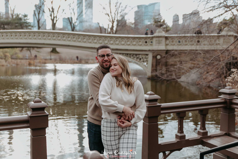 surprise proposal shooting in bow bridge, central park